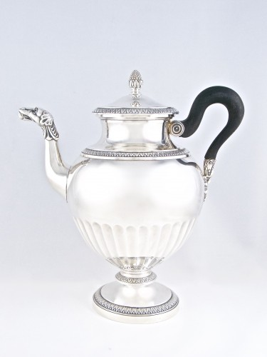 CARDEILHAC Paris - tea coffee service in solid silver - Antique Silver Style