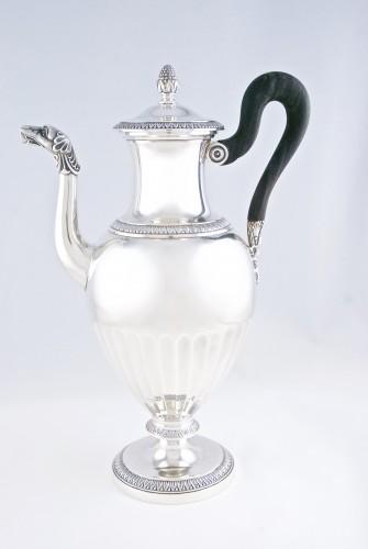CARDEILHAC Paris - tea coffee service in solid silver -
