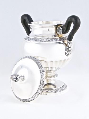 20th century - CARDEILHAC Paris - tea coffee service in solid silver