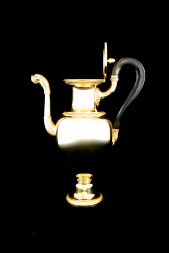 Restauration - Charles X - ODIOT goldsmith - Vermeil tea or coffee pot, Paris 1826-1838