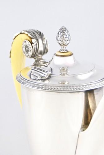 Carl HIESS Goldsmith,sterling silver tea pot, Vienna, Austria, 19th century -