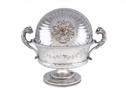 Pierre CHAUVIN orfèvre - Covered cup, Paris 1798-1809, sterling silver