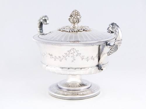 Pierre CHAUVIN orfèvre - Covered cup, Paris 1798-1809, sterling silver - Antique Silver Style Empire