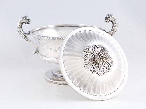 Antique Silver  - Pierre CHAUVIN orfèvre - Covered cup, Paris 1798-1809, sterling silver
