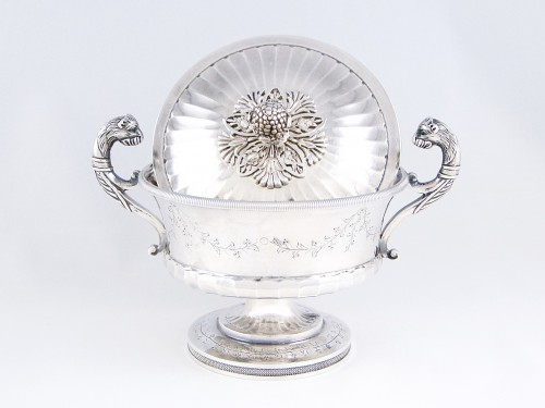 Antiquités - Pierre CHAUVIN orfèvre - Covered cup, Paris 1798-1809, sterling silver