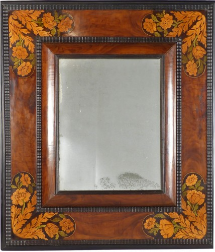 Mirror with inlaid decoration, Netherlands 17th century