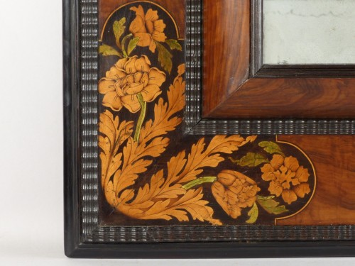 Mirror with inlaid decoration, Netherlands 17th century - Mirrors, Trumeau Style Louis XIV