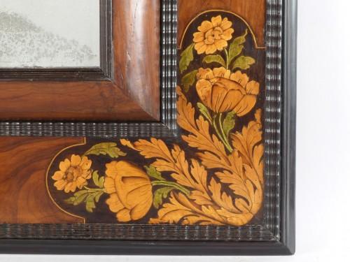 17th century - Mirror with inlaid decoration, Netherlands 17th century