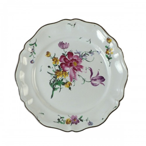 Strasbourg faience plate, Hannong 18th century