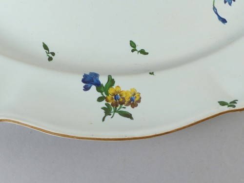 18th century - Strasbourg faience display dish, Hannong 18th century