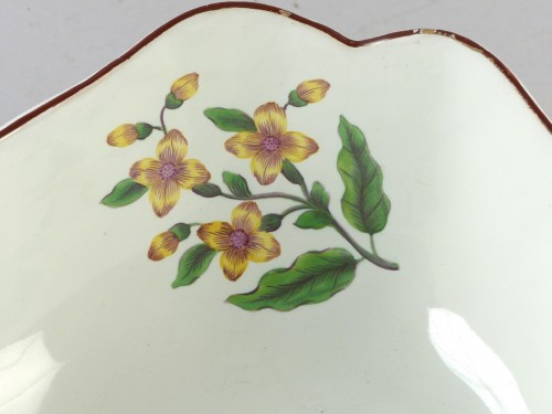 Antiquités - Clemenswerth Strasbourg faience fruit dish, Hannong 18th century