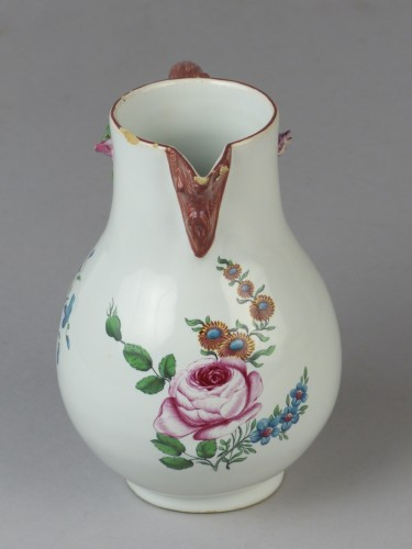 Strasbourg faience milk pot, Hannong 18th century - Porcelain & Faience Style Louis XV