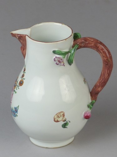 Porcelain & Faience  - Strasbourg faience milk pot, Hannong 18th century