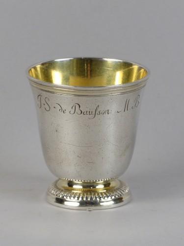 Strasbourg gilded silver circumcision beaker, 18th century - Antique Silver Style Louis XV