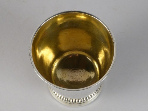 18th century - Strasbourg gilded silver circumcision beaker, 18th century
