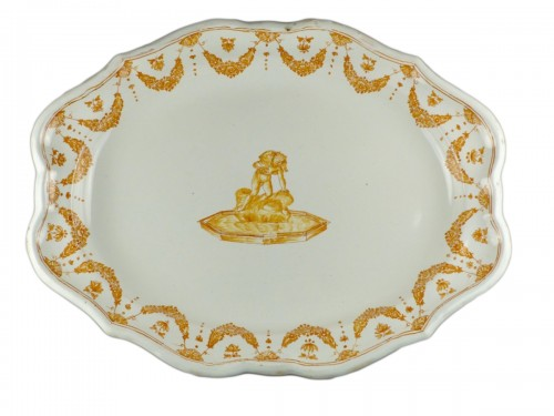 Moustiers faience platter, 18th century