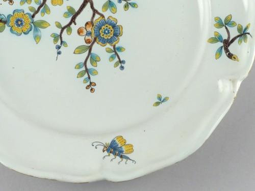 Porcelain & Faience  - Strasbourg faience plate, Hannong 18th century