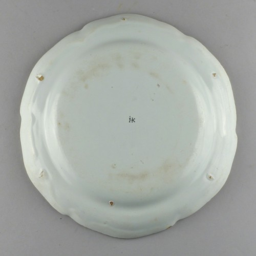 Strasbourg faience plate, Hannong 18th century -
