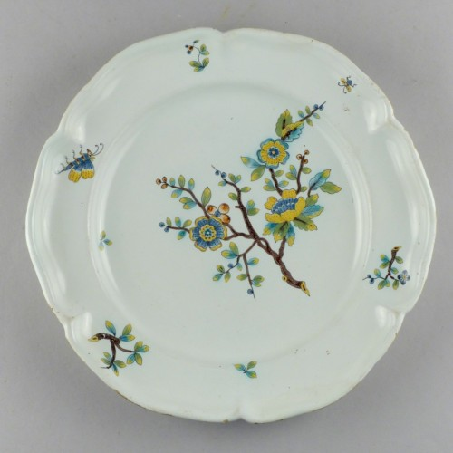 18th century - Strasbourg faience plate, Hannong 18th century
