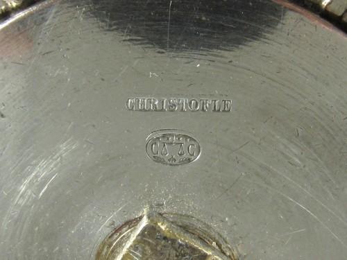 Christofle silvered bronze center piece and candelabras, 19th century - Napoléon III