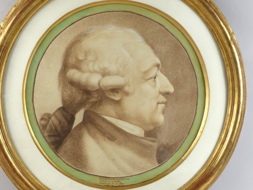 Johann Caspar LAVATER (1741-1801) - Portrait of a man - Paintings & Drawings Style Louis XVI