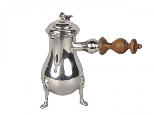 Small Rennes silver coffee pot , 18th century
