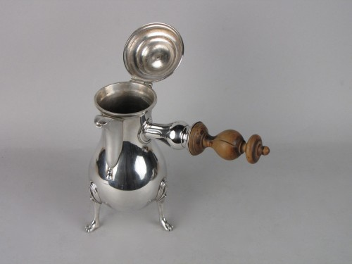 Small Rennes silver coffee pot , 18th century - Antique Silver Style Louis XV
