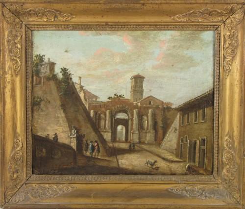 Pair of Rom vedute  - Paintings & Drawings Style