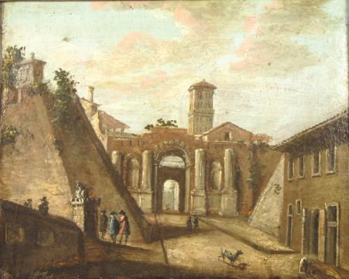 Paintings & Drawings  - Pair of Rom vedute