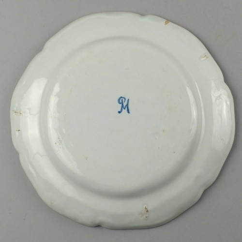 Porcelain & Faience  - Strasbourg faience plate, Hannong 18th century