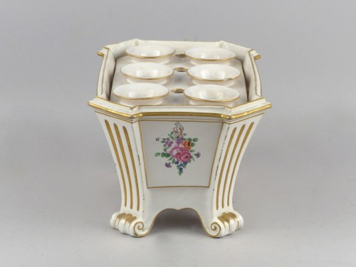 Porcelain & Faience  - Luneville bought pot, 18th century