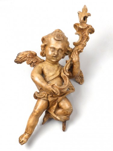 Pair of angels, Germany 18th century - Sculpture Style Louis XV