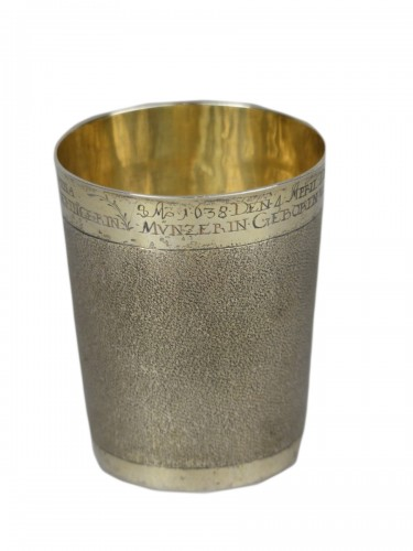 German gilded silver beaker, 17th century