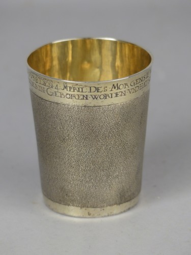 German gilded silver beaker, 17th century - Antique Silver Style