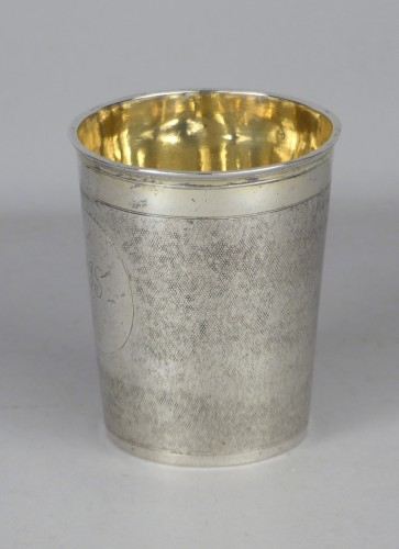 Danish gilded silver beaker, 1701 - Antique Silver Style Louis XIV