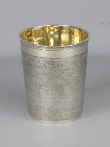 Antique Silver  - Danish gilded silver beaker, 1701