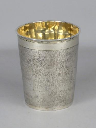Danish gilded silver beaker, 1701 -