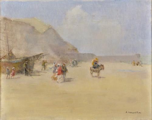 Emile Schneider (1873-1947) - Seaside promenade