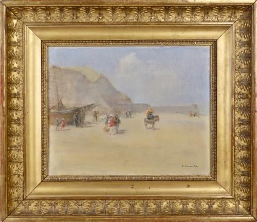Emile Schneider (1873-1947) - Seaside promenade - Paintings & Drawings Style Art nouveau