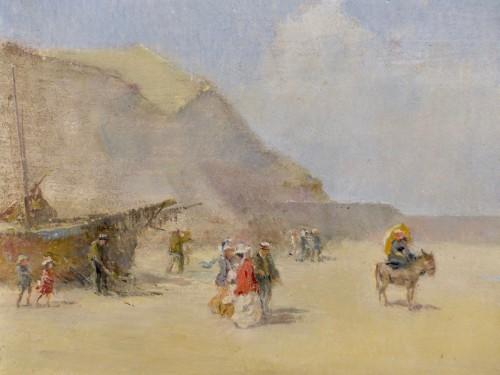 Paintings & Drawings  - Emile Schneider (1873-1947) - Seaside promenade