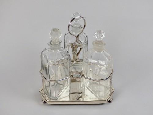 Antique Silver  - George III Tantalus by silversmith William Bateman I (1774 – 1850)