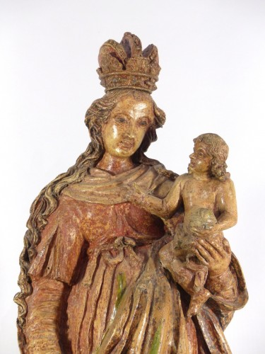 Louis XIV - Madonna and Child, Sarthe 18th century