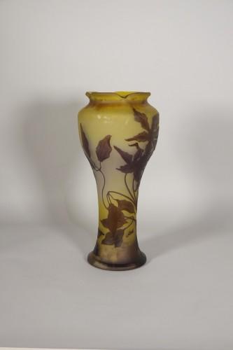 Large vase, Emile Gallé - Glass & Crystal Style Art nouveau