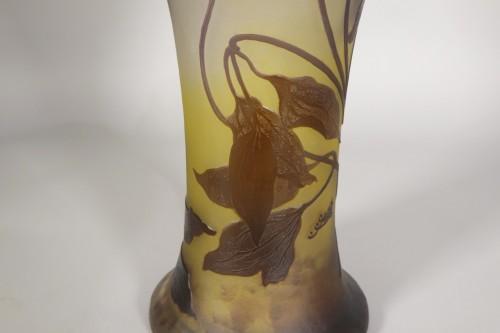Glass & Crystal  - Large vase, Emile Gallé