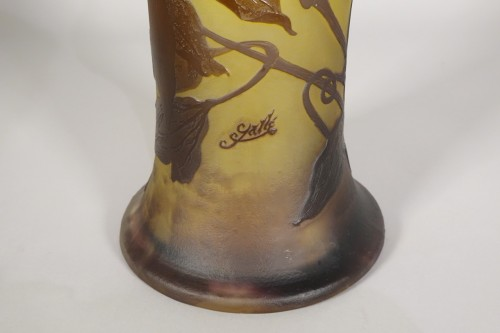 Art nouveau - Large vase, Emile Gallé