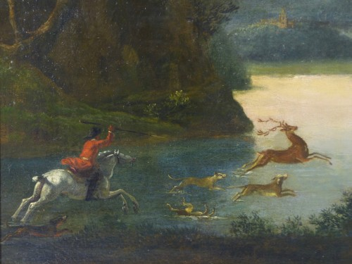 Hunting scene - Paintings & Drawings Style