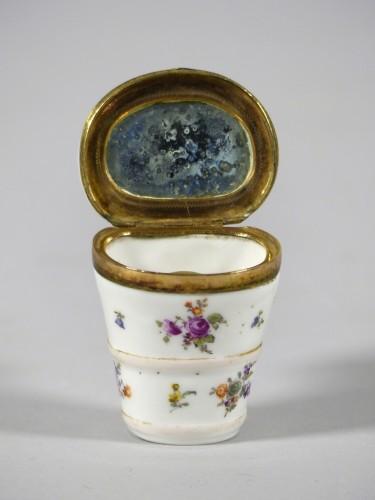 Beauty spot box corca 1750 - Porcelain & Faience Style