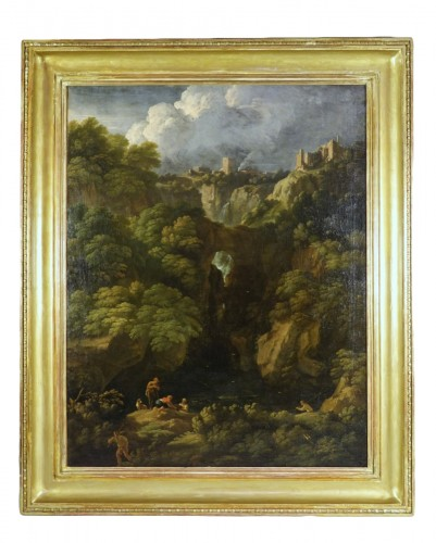 Tivoli's waterfall - Attributed to Jan Frans van Bloemen
