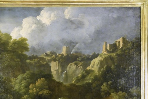 Paintings & Drawings  - Tivoli's waterfall - Attributed to Jan Frans van Bloemen