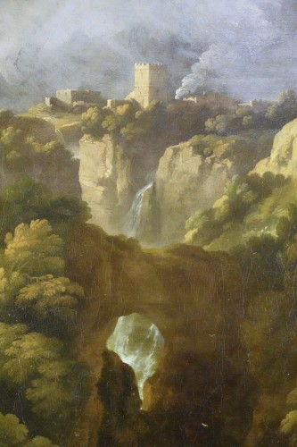 18th century - Tivoli's waterfall - Attributed to Jan Frans van Bloemen